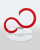 "audius | Fujitsu supplier of the year award ""Customer Focus"""